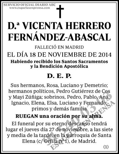 Vicenta Herrero Fernández-Abascal